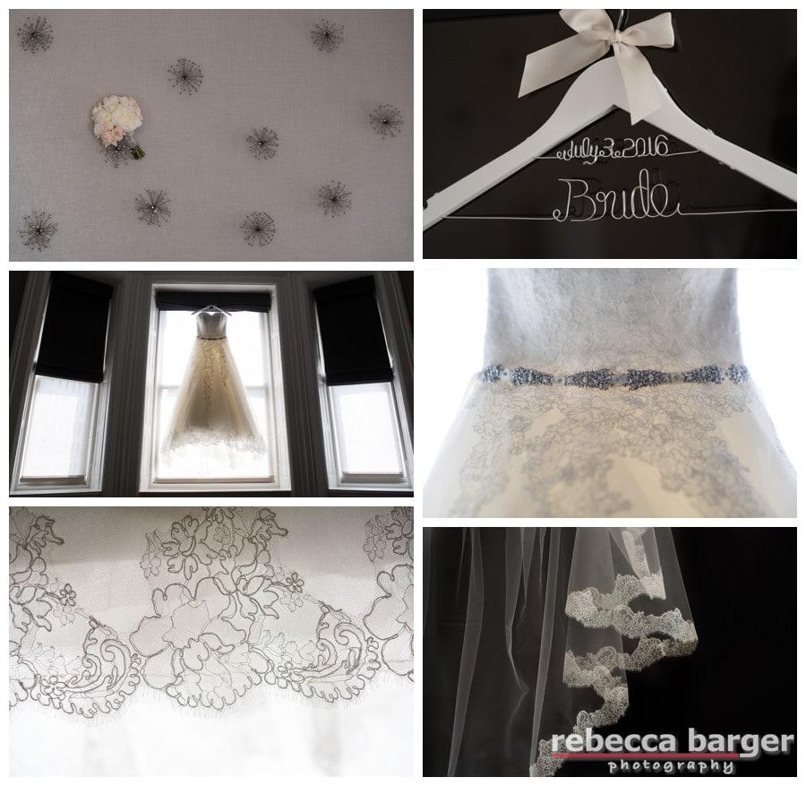 Rachel's details! Sareh Nouri gown from Nicole Bridal.