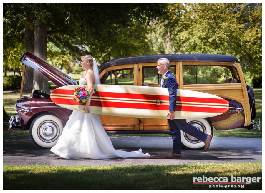 Lindsay + Jason head to the beach for a quick swim before their ceremony, Just kidding, Rebecca Barger Photography.