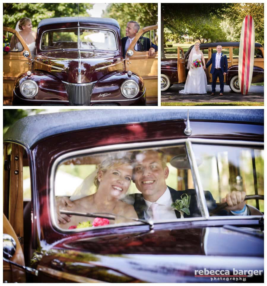 Love the woody that Lindsay + Jason borrowed for their wedding day!