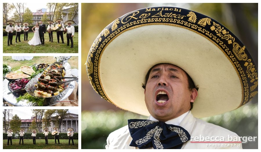A mariachi band arrives to help celebrate Julie + Mike's wedding!