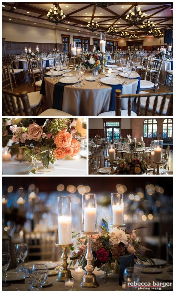 Lovely decor of the Aronimink Ballroom by Sullivan Owen Floral & Event Design.