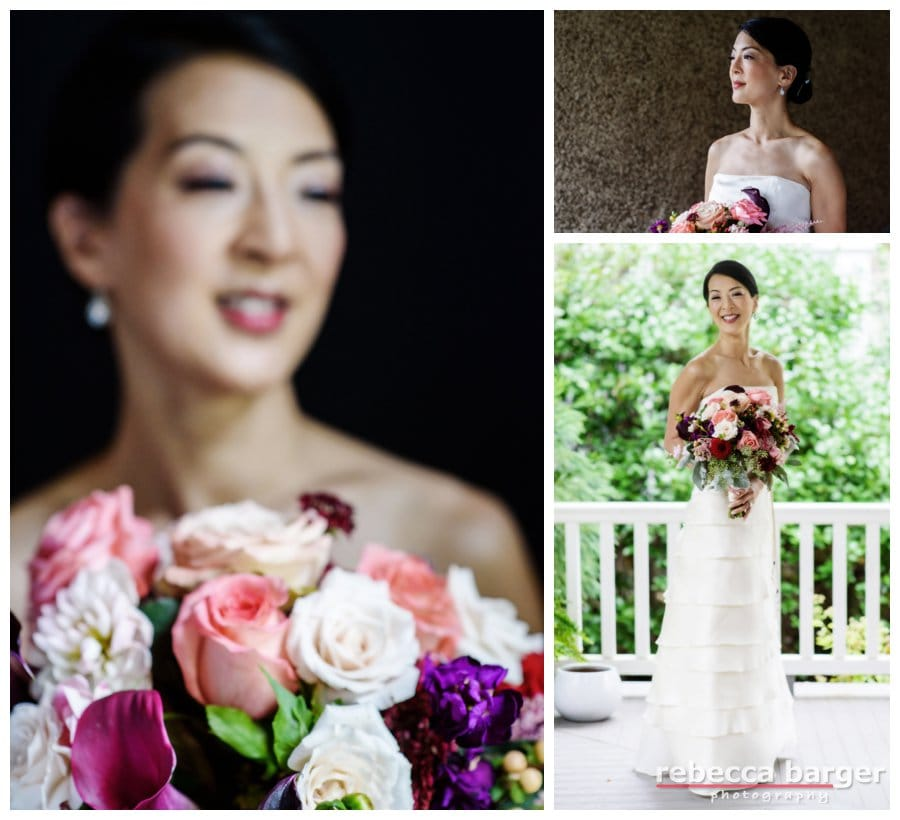 Karen is certainly a beauty with her bridal bouquet by Amaranth Florist, hair by Up Your Do, cosmetics by Carie Brescia.
