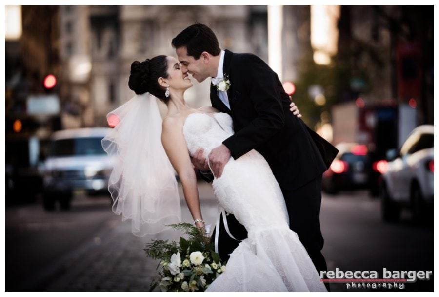 It's alway fun to shoot in Philly traffic, especially when your couple is a show stopper, with Logan in her Pnina Tornai from Kleinfelds, wedding planning by IDoPlan, Lynda Barness.