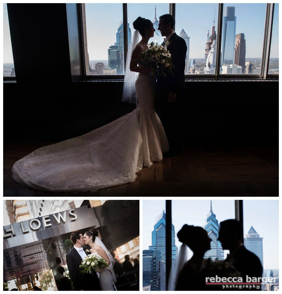 Always great to get the Philly skyline in your wedding day photos.