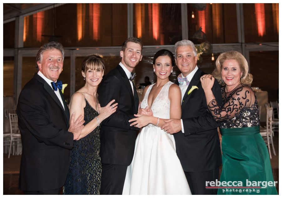 The newlyweds and their parents.