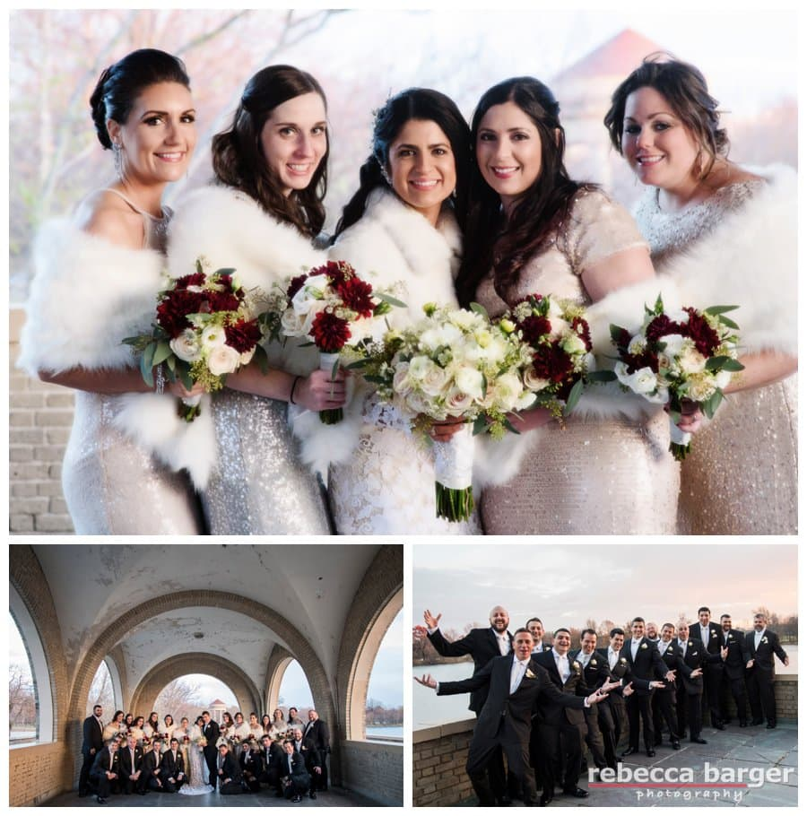 Bridesmaids gowns by