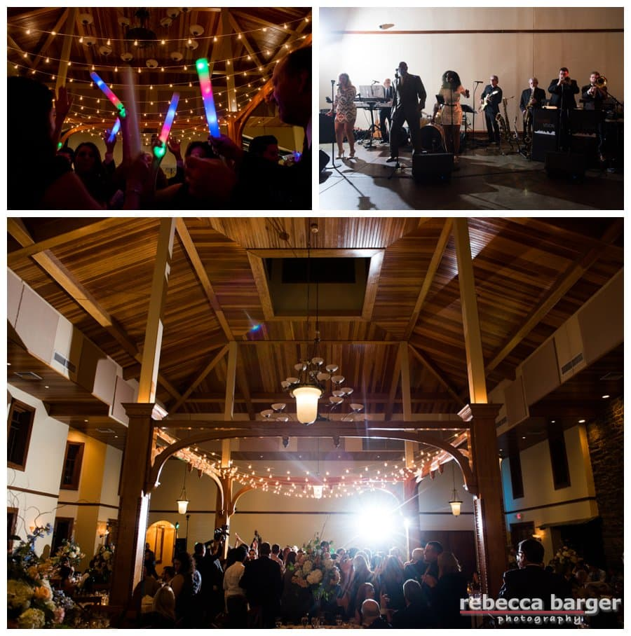 The band 2nd Vision packed the dance floor at Knowlton Mansion.