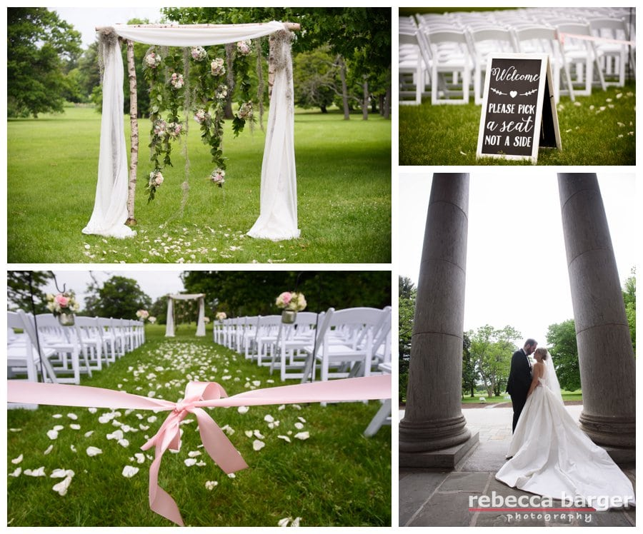 Gorgeous outdoor ceremony decor by Fleur de lis Floral