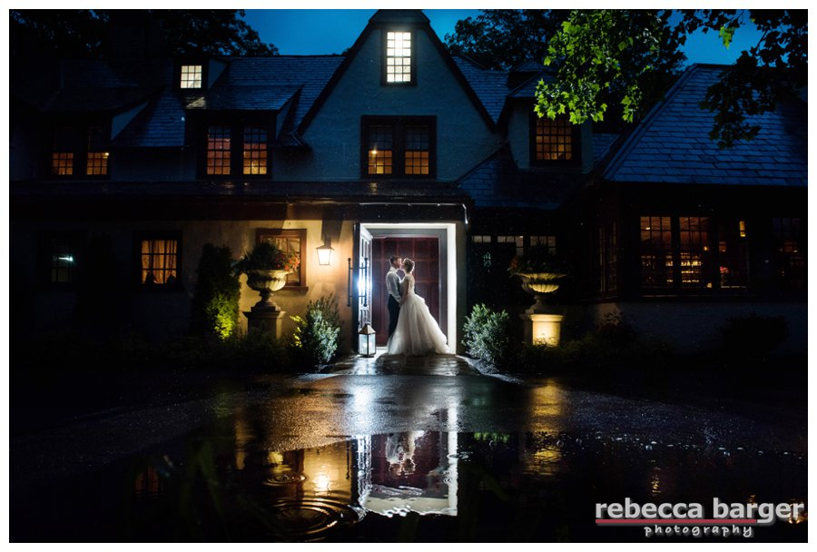 Becca + Dave had gorgeous ceremony weather, after outdoor cocktails, we had a quick summer rainstorm which resulted in the water reflections.