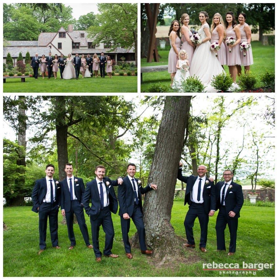 Bridal party at Hotel du Village.