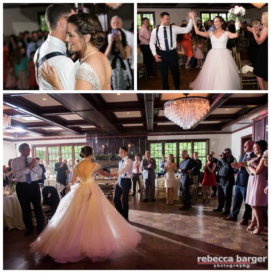 Look at that ballroom gown swirl during Becca and Dave's first dance!