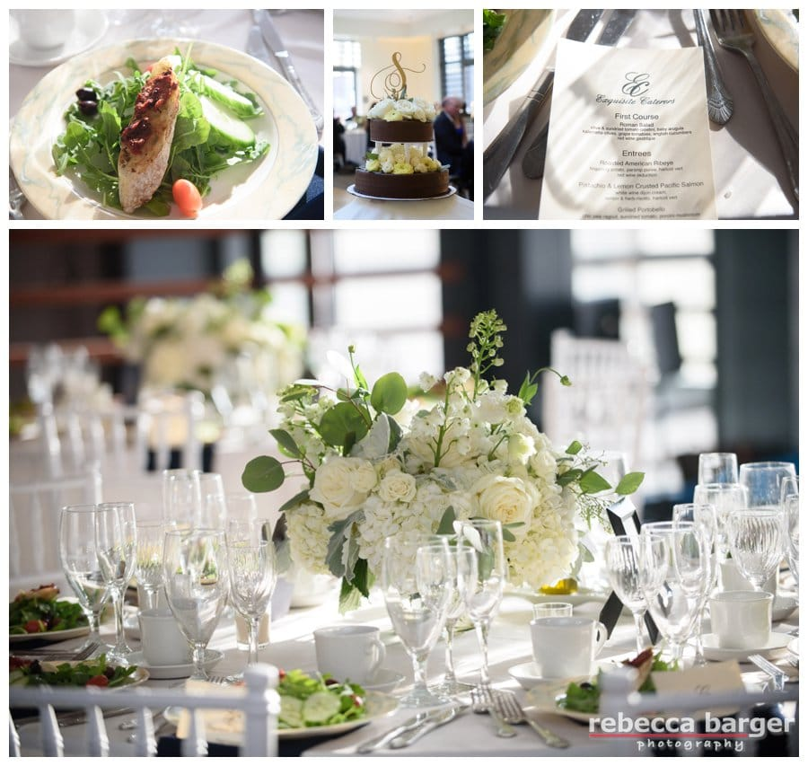 Catering by Exquisite Catering providing Kosher catering, flowers by Sommerfield Designs. Cake by Sweet Freedom Bakery.