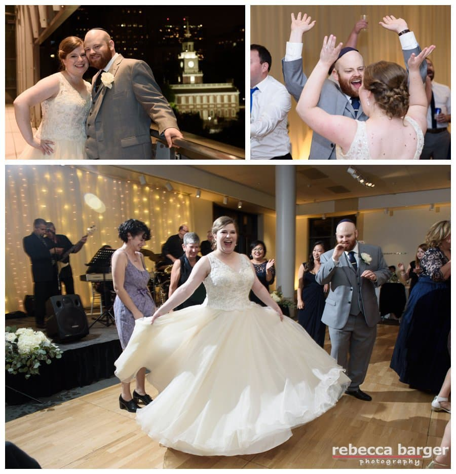 The newlyweds are still dancing strong at the end of the evening. Best Wishes, Katie & Jordan! ~Rebecca Barger Photography