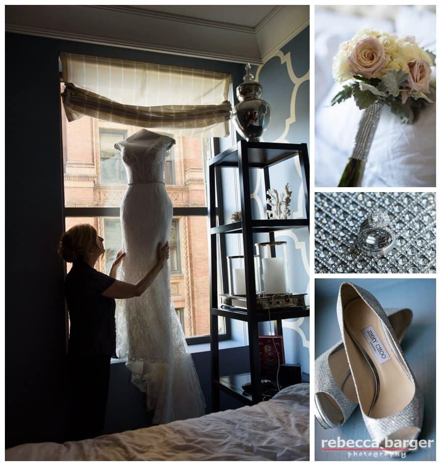 Preparing at Hotel Monaco, Philly, Jimmy Choo,