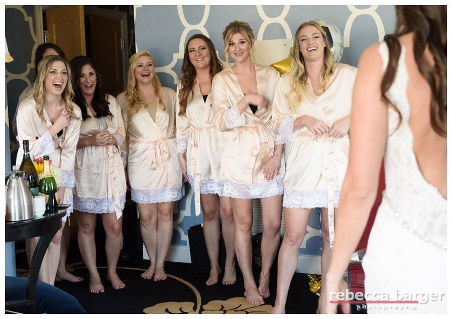 Reveal to bridesmaids!