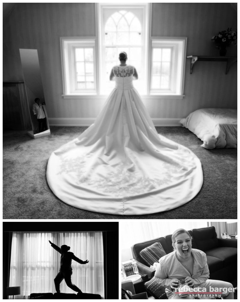 What a glorious wedding gown train, Kiera! Gown by Pronovias, from Van Cleve.