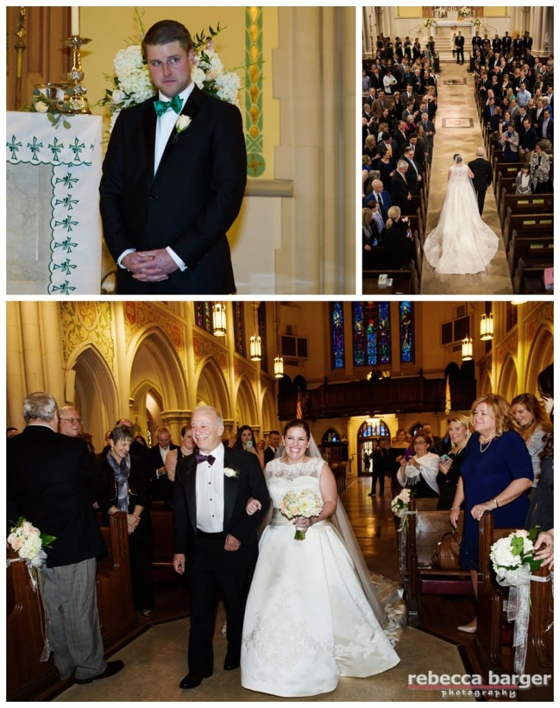 LOVE Mark's face as he watches Kiera proceed down the aisle at St. Bridget's.