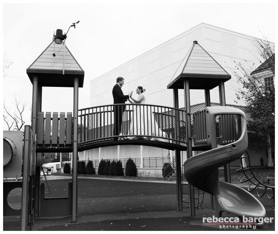 They will build a castle of their own, newlyweds Kiera and Mark at Penn Charter.