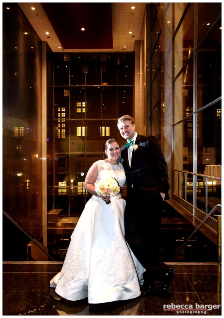Celebrating their marriage at Loews Hotel, Philly.