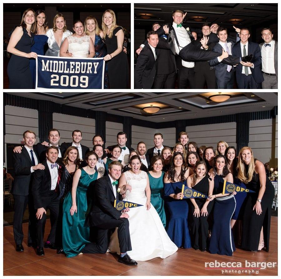 Lots of Penn Charter alumni celebrating Kiera and Marks nuptials.