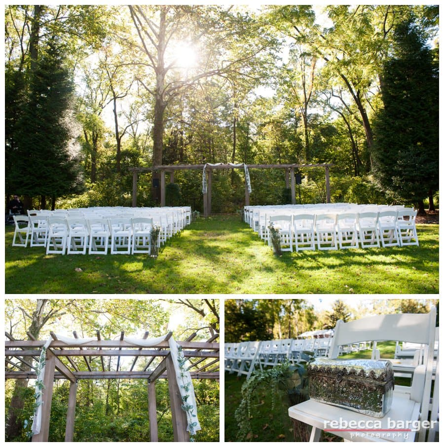 Wedding ceremony location at Anthony Wayne House.