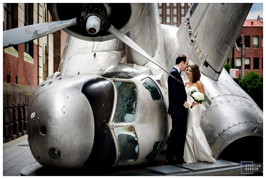On their wedding day, outside of PAFA.